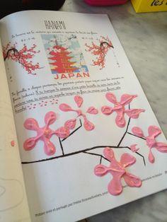 art en maternelle: peindre des fleurs de cerisier avec des bouteilles de soda - cherry blossom tree