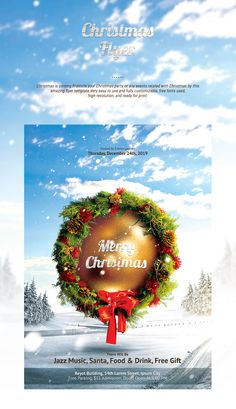 Christmas Eve Flyer Template On Behance  Christmas  Gift Duide