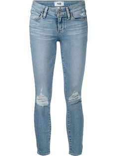 Comprar Paige jeans corte pitillo con efecto desgastado en Mario's from the world's best independent boutiques at farfetch.com. Over 1500 brands from 300 boutiques in one website.