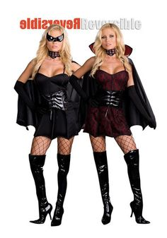 The perfect costume.  Party all night as a vampiress and then turn into bat girl to make it home before the sun rises.