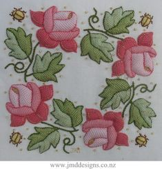 JMD Designs - Charlotte Rose - Padded Needlelace Needlework, Quilting and Applique