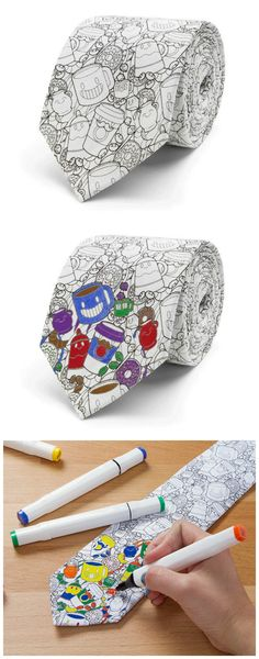 DIY Coloring Book Tie that the kids can customize makes the perfect Father's Day gift!