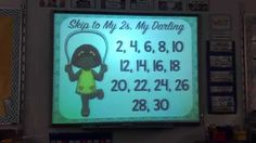 This is a video of a classroom singing and chanting while practicing their skip counting!!! They LOVE it!! :)