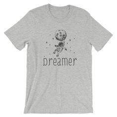 Dreamer Short-Sleeve Unisex T-Shirt by PetsHomesandBeyond on Etsy