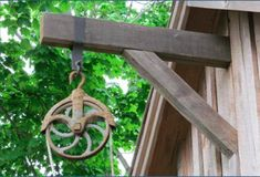 Hayloft+Pulley+Beam+Design | Antique Pulley and peak beam as it looks today on the May Barn. The ...