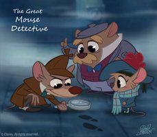 The Great Mouse Detective by *princekido on deviantART   Olivia: Goodbye, Basil. I'll never forget you.  Basil: Nor I you, Miss...Miss Flangerhanger.