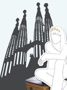 Goldstück in Barcelona