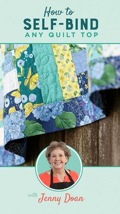 """When Jenny asks herself """"""""what if"""""""", great things always happen! In this week's new tutorial, Jenny demonstrates how to stitch a self-binding backing to ANY size quilt. Follow the link below to watch the free tutorial now! #MissouriStarQuiltCo #Quilting #Quilt #SelfBindingQuilt #QuiltBinding Machine Binding A Quilt, Machine Quilting Tutorial, Quilt Binding Tutorial, Quilting Tips, Quilting Projects, Quilting Designs, Msqc Tutorials, Quilting Tutorials, Linda Wagner"""