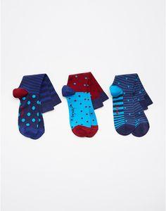 Sea Blue Brillbamsetm Bamboo Socks Three Pack , Size One Size | Joules UK