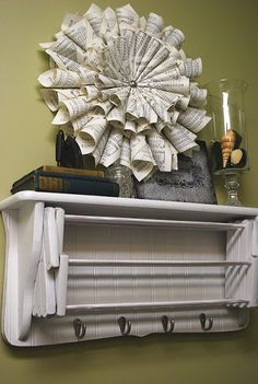 Make yourself a cute and functional accordion style drying rack with this tutorial!