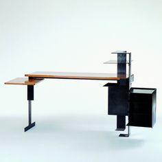 Designer: Pierre Chareau Piece: MB 744 Design: 1927 Production: 1927 Manufacturer: Atelier Pierre Chareau, Paris Size: 98 x 140 x 47 cms Material: blackened hoop iron, wood
