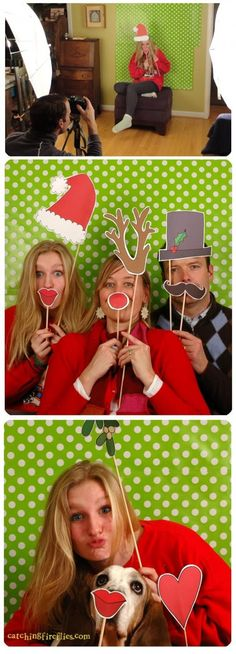 Christmas Photo Booth Printables