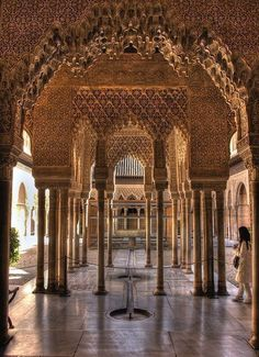 Spain Travel Inspiration - The Alhambra - the most famous garden in Spain with 8,000 visitors a day in December. #travelinspain #spaintravel