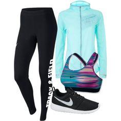 Workout by carolineas on Polyvore featuring polyvore, fashion, style and NIKE