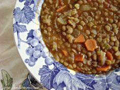 This homemade lentil soup recipe is the perfect winter comfort food.