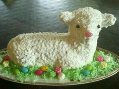 Czech lamb cake - Easter tradition - my grandma used to have this lamb mold!