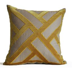 Grey Yellow Pillow Cover Geometric Pattern Pillows Contemporary Modern... (£27) ❤ liked on Polyvore featuring home, home decor, throw pillows, toss pillow, yellow home decor, yellow throw pillows, gray throw pillows, yellow toss pillows and geometric pattern throw pillows