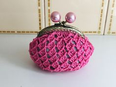 Single Piece, Hand Sewing, Women's Accessories, Cotton Fabric, Organization, Coin Purses, Wallet, Knitting, Blueberry