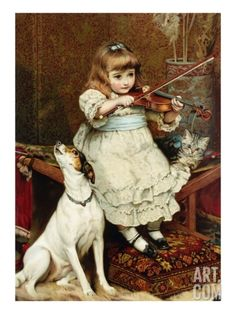 The Broken String Giclee Print by Charles Burton Barber. Find art you love and shop high-quality art prints, photographs, framed artworks and poste. Art Ancien, Victorian Art, Fine Art, Illustrations, Jack Russell Terrier, Dog Art, Vintage Children, Oeuvre D'art, Barber