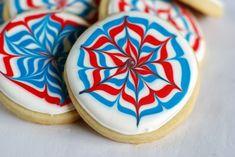 cute firework-style cookies