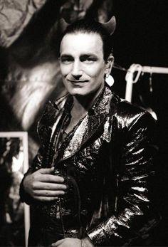 Bono as Mr. U2 Zooropa, Bono U2, Great Bands, Cool Bands, U2 Achtung Baby, Zoo Station, Paul Hewson, Irish Rock, Larry Mullen Jr