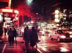 Kotze Street, Hillbrow, at night