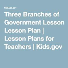 teachers lesson plans government branches