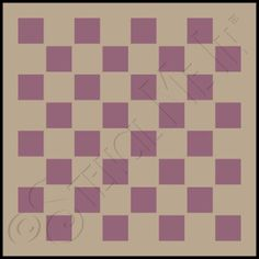 Simple checkerboard table stencil