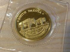 1987 South Dakota 1oz Gold Round (.999)