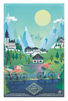 Bike + travel + illustration