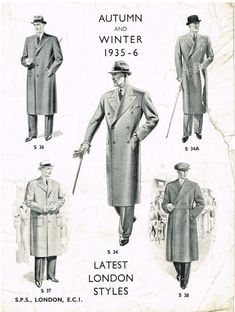 Latest London Styles - Autumn & Winter (1935-6)   Raddest Looks On The Internet http://www.raddestlooks.net