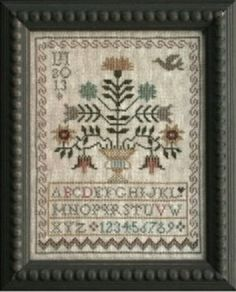 A Sister's Garden is the title of this cross stitch pattern from La D Da that can be stitched with DMC threads.
