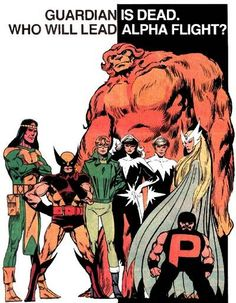 Alpha Flight by John Byrne.  I was so destroyed when Guardian died.