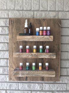 essential oil storage shelf / rustic wood shelf by TheIshShoppe