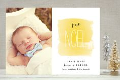 First Noel Holiday Photo Cards by robin ott design at minted.com