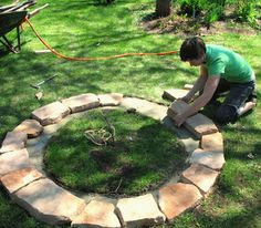 DIY fire pit-  I need to remember how easy this stuff can be.  We had a fire pit when I was little.  Avoid being distracted by store-models that rust out.