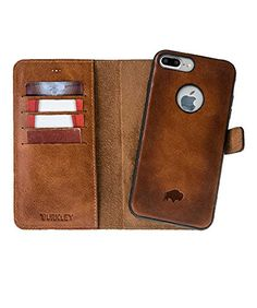 Apple iPhone 7 Plus Burkley Premium Detachable Magnetic Luxury Leather Wallet Folio Case for Apple iPhone 7 Plus with Full Cover Snap On Case Burnished -- Check this awesome product by going to the affiliate link Amazon.com at the image.