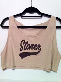 Stoner American Apparel Crop Top by OfIvy on Etsy