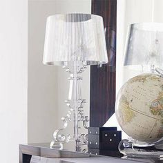 Kartell Bourgie Crystal Table Lamp - View All Bedroom - Bedroom - Kitchen, Bed & Bath Lampe Bourgie, Modern Furniture, Furniture Design, Lucite Furniture, Large Table Lamps, Lamp Table, Kartell, Home Living, Interior Lighting