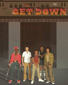 The get down #thegetdown #getdown #shaolinfantastic #ezekielfigueroa #dizzee #rara #booboo #illustration #bronx #tvshow #tvseries #netflix #hiphop #discomusic #graffiti #newyork #70s #music #train #TheGetDown #Netflix