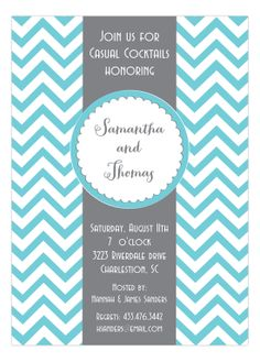 Picture Perfect Digital Designs - Shower Seal with Chevron Invitation