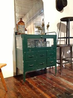 Apothecary Light Cabinet in 67 West Street, Brooklyn, NY 11222, USA ~ Apartment Therapy Classifieds