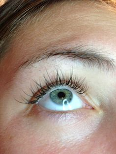 Lash extensions on my daughter :)
