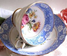 Vintage Rosina Bone China Tea Cup and Saucer
