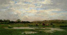 Prairies inondees / Pas de Calais, 1880 - Pierre Emmanuel Damoye