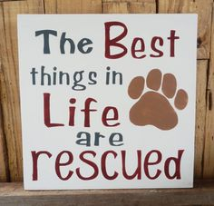 Hey, I found this really awesome Etsy listing at https://www.etsy.com/listing/244366173/the-best-things-in-life-are-rescued-dog