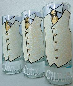 Wedding Personalized Hand Painted Shot set Wine by AlenaShop, $20.99