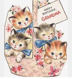Happy Birthday to Grandma Beautiful Happy Birthday Grandmother Vintage Retro Card Grandma Nan Vintage Birthday Cards, Vintage Greeting Cards, Vintage Valentines, Happy Birthday Cards, Birthday Greeting Cards, Vintage Postcards, Grandma Cards, Happy Birthday Grandma, Old Cards