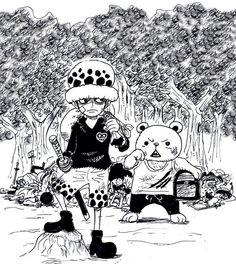 Трафальгар Ватер Д. Ло, белый медведь-минк Бепо.