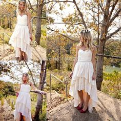 Find More Wedding Dresses Information about 2016 Gipsy Girls High Low Short…